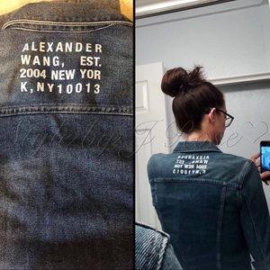Alexander Wang Jackets & Coats - NWT's Alexander Wang Graphic Denim Jacket
